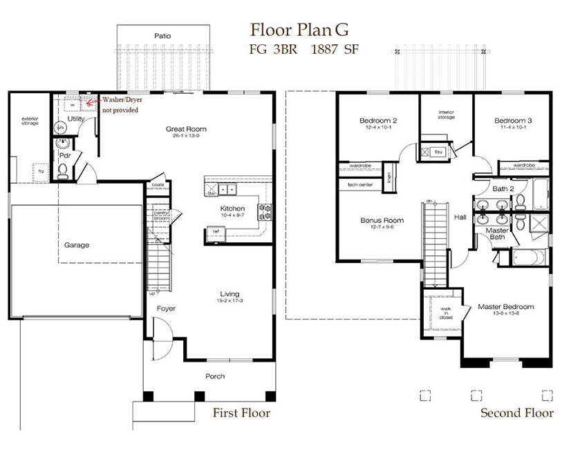3 Bedroom Download Floor Plan PDF